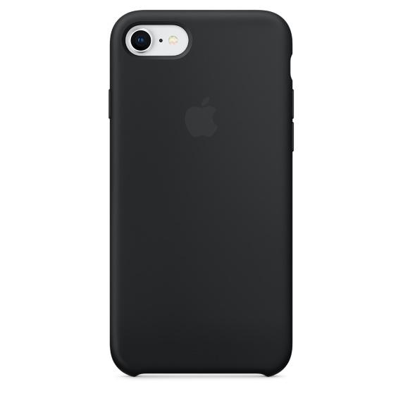 Capac protectie spate Apple Silicone Case pentru iPhone 7 / 8 Black