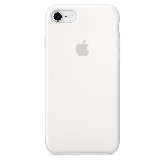 Capac protectie spate Apple Silicone Case pentru iPhone 7 / 8 White