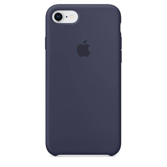 Capac protectie spate Apple Silicone Case pentru iPhone 7 / 8 Midnight Blue