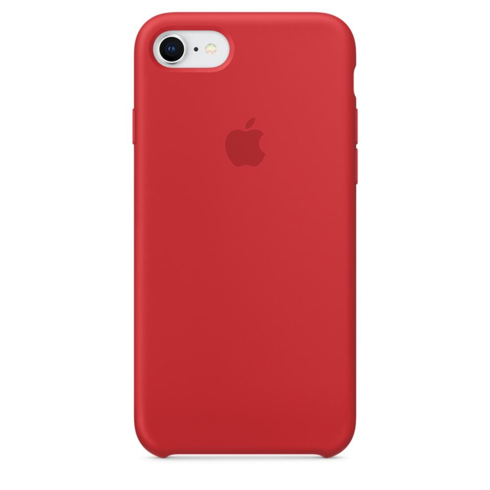 Capac protectie spate Apple Silicone Case pentru iPhone 7 / 8 Red