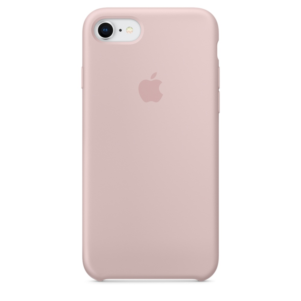Capac protectie spate Apple Silicone Case pentru iPhone 7 / 8 Pink Sand