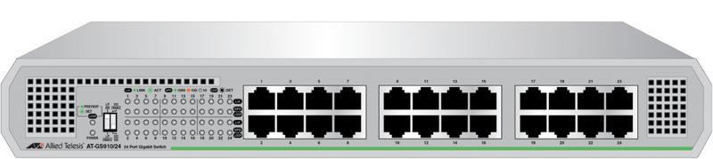 Switch Allied Telesis Gs910 24x1000mbs-rj45 Fara Management Cu Sursa Interna