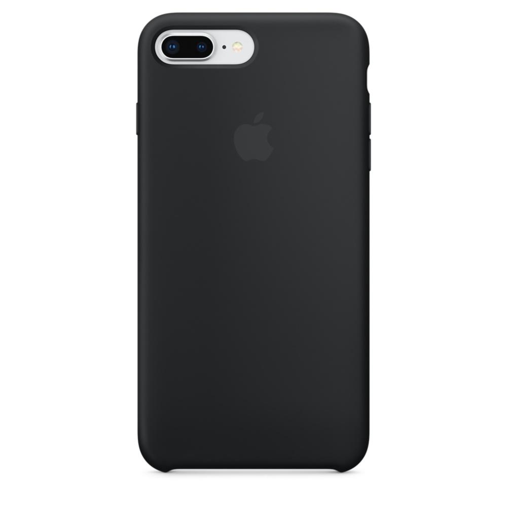 Capac protectie spate Apple Silicone Case pentru iPhone 7 Plus / 8 Plus Black