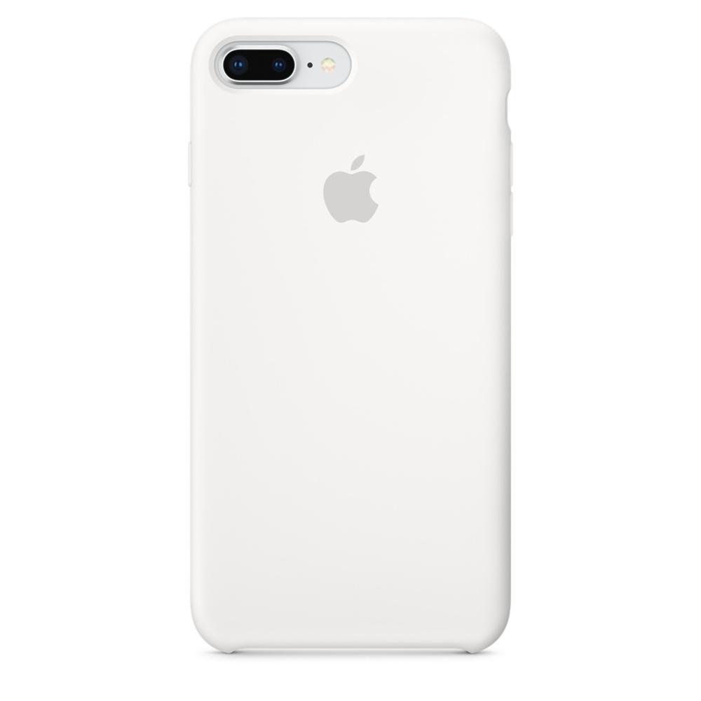 Capac protectie spate Apple Silicone Case pentru iPhone 7 Plus / 8 Plus White