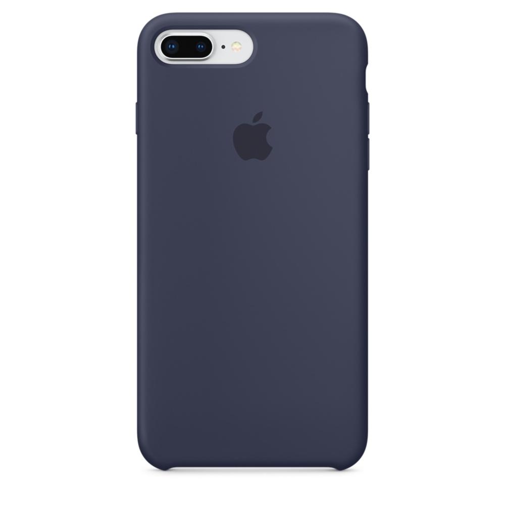 Capac protectie spate Apple Silicone Case pentru iPhone 7 Plus / 8 Plus Midnight Blue