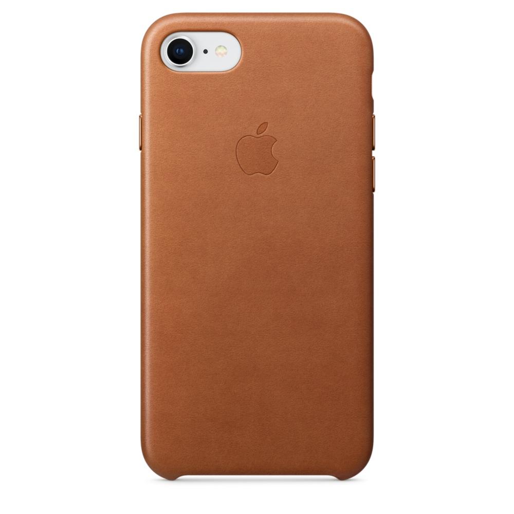Capac protectie spate Apple Leather Case pentru iPhone 7 / 8 Saddle Brown