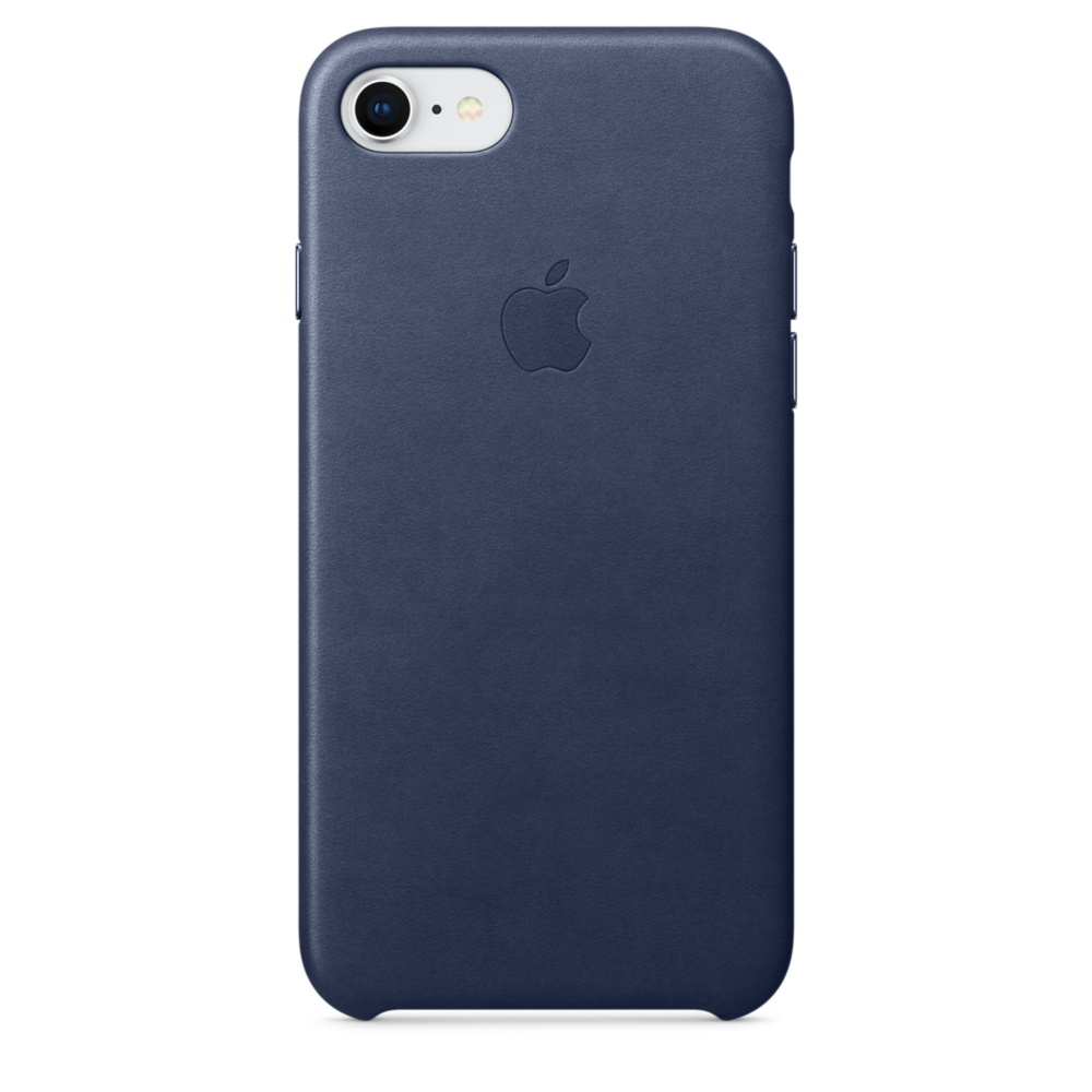 Capac protectie spate Apple Leather Case pentru iPhone 7 / 8 Midnight Blue