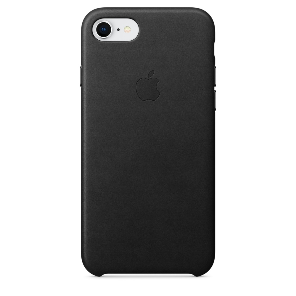 Capac protectie spate Apple Leather Case pentru iPhone 7 / 8 Black