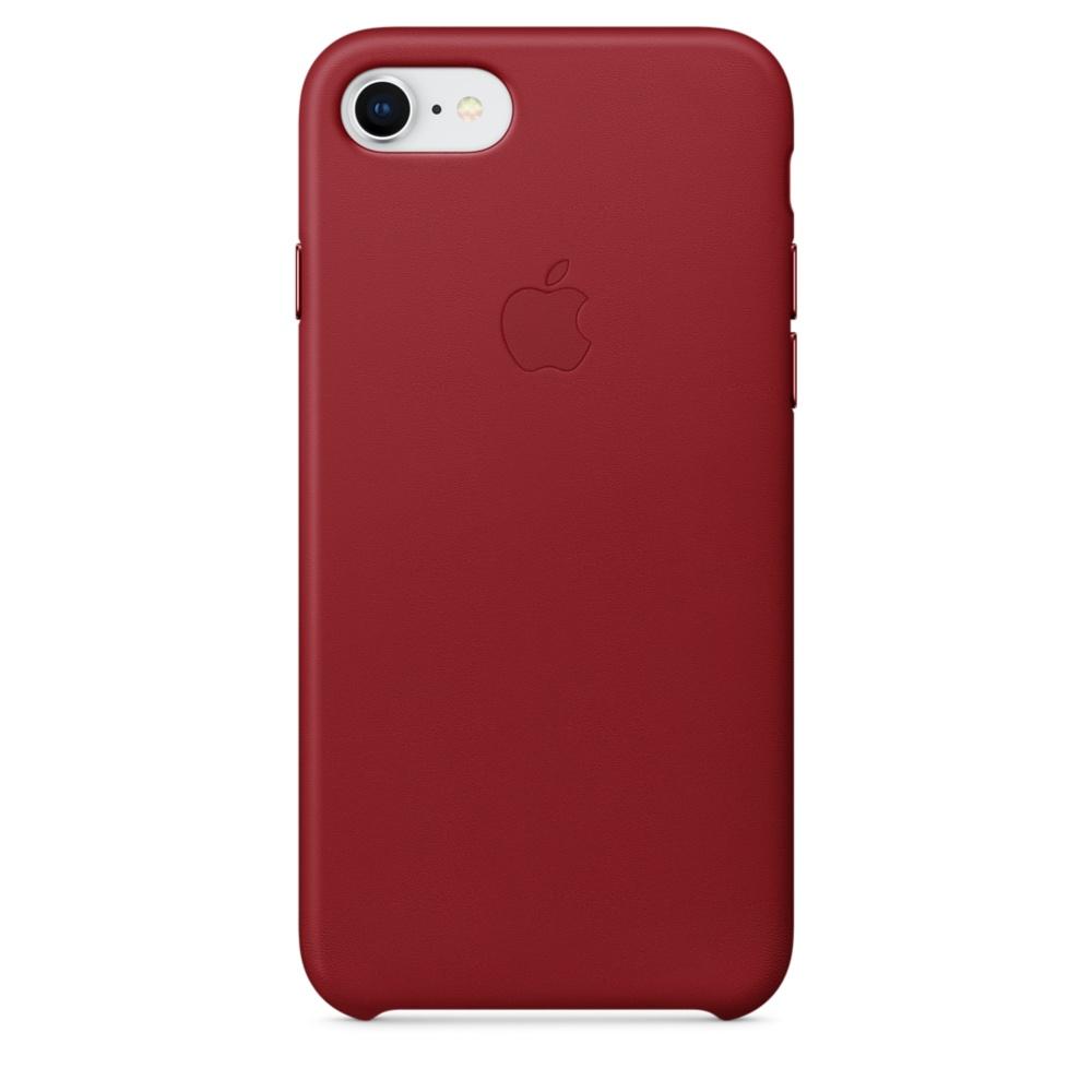 Capac protectie spate Apple Leather Case pentru iPhone 7 / 8 Red