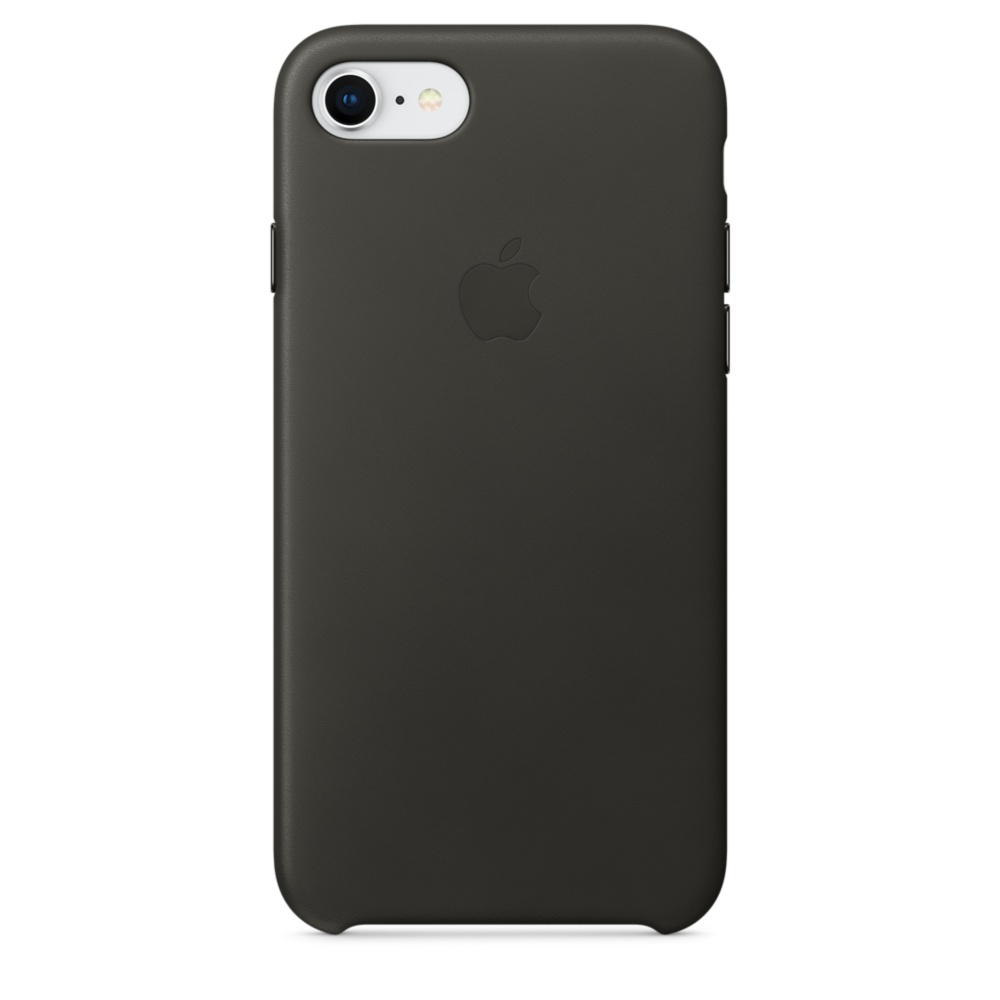 Capac protectie spate Apple Leather Case pentru iPhone 7 / 8 Charcoal Gray