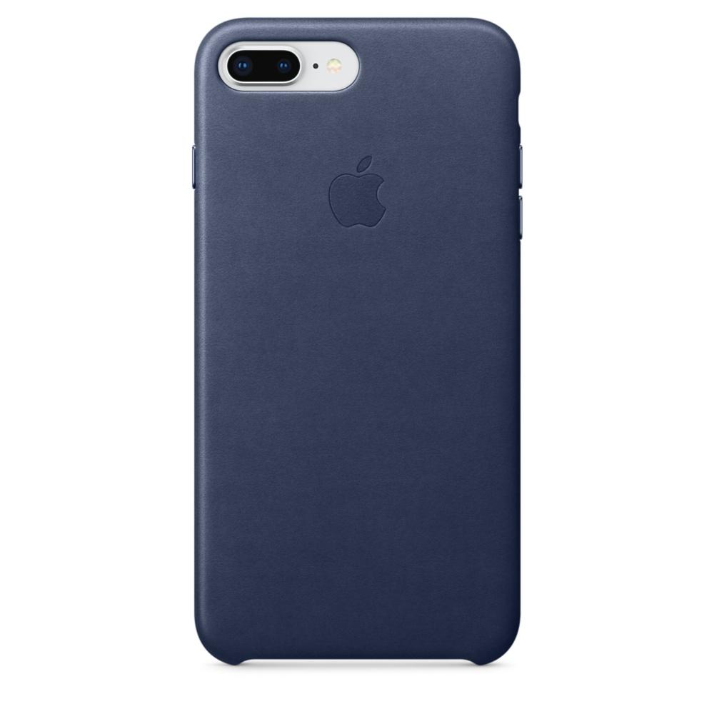 Capac protectie spate Apple Leather Case pentru iPhone 7 Plus / 8 Plus Midnight Blue