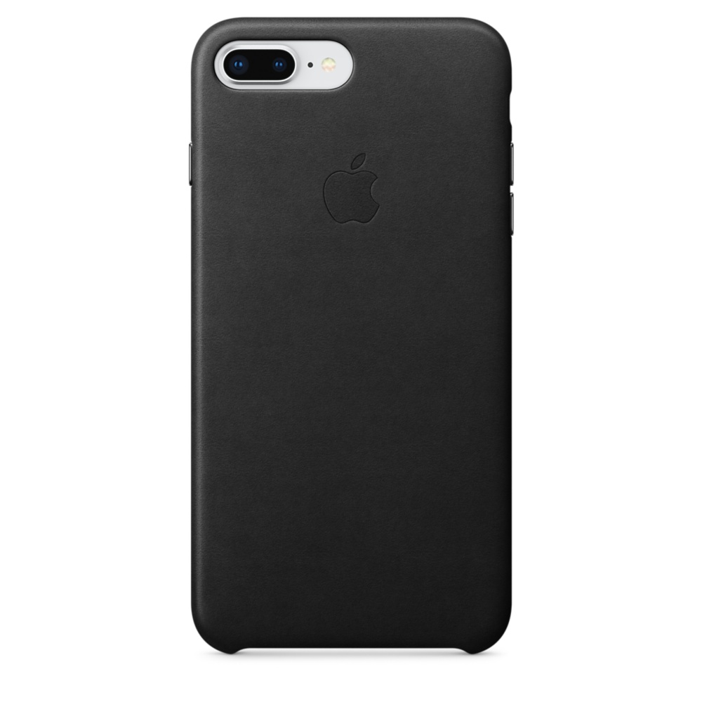 Capac protectie spate Apple Leather Case pentru iPhone 7 Plus / 8 Plus Black