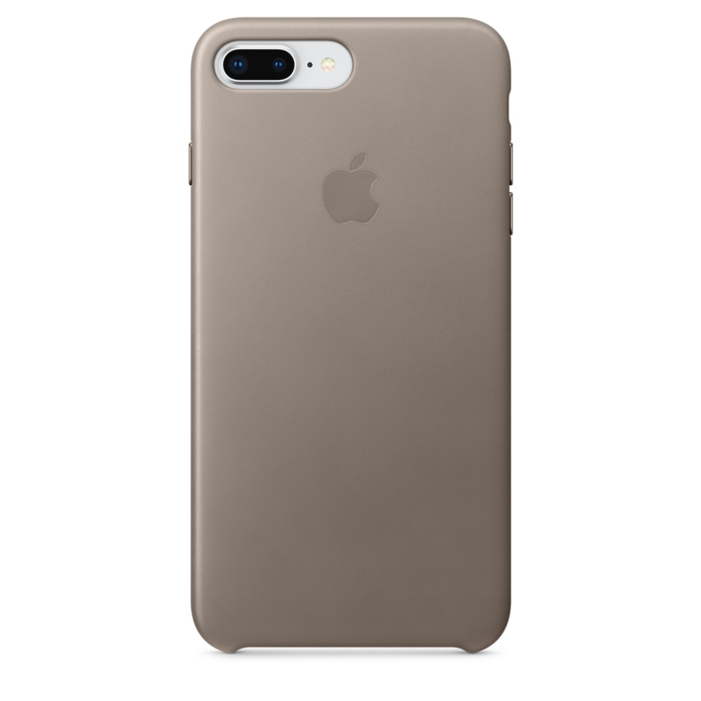 Capac protectie spate Apple Leather Case pentru iPhone 7 Plus / 8 Plus Taupe