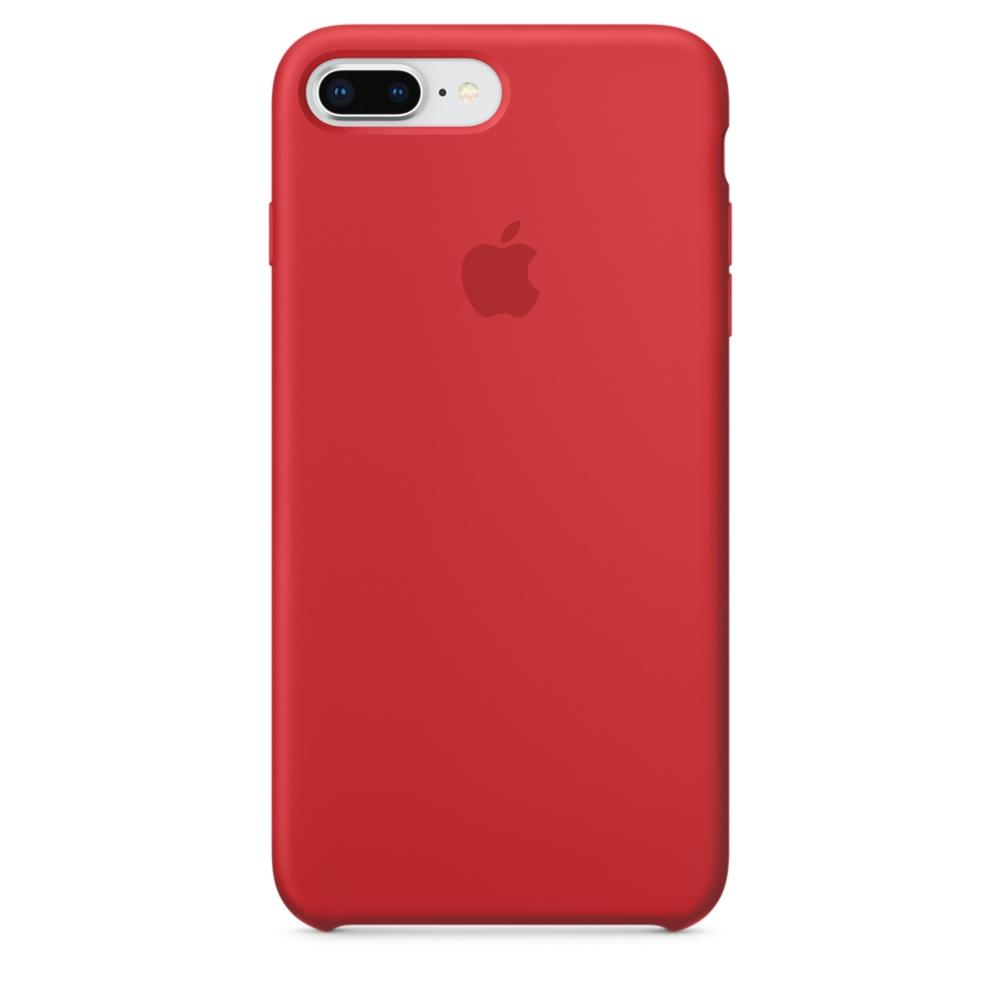 Capac protectie spate Apple Silicone Case pentru iPhone 7 Plus / 8 Plus Red