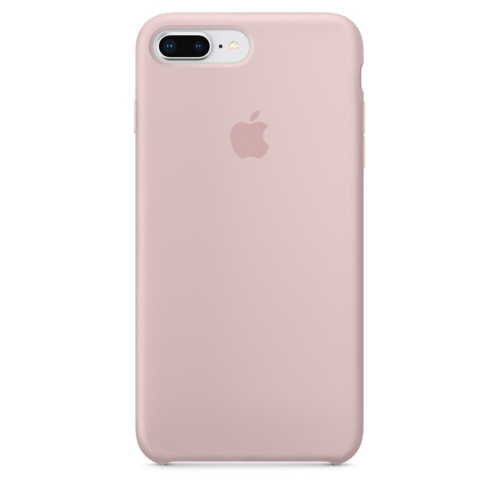 Capac protectie spate Apple Silicone Case pentru iPhone 7 Plus / 8 Plus Pink Sand