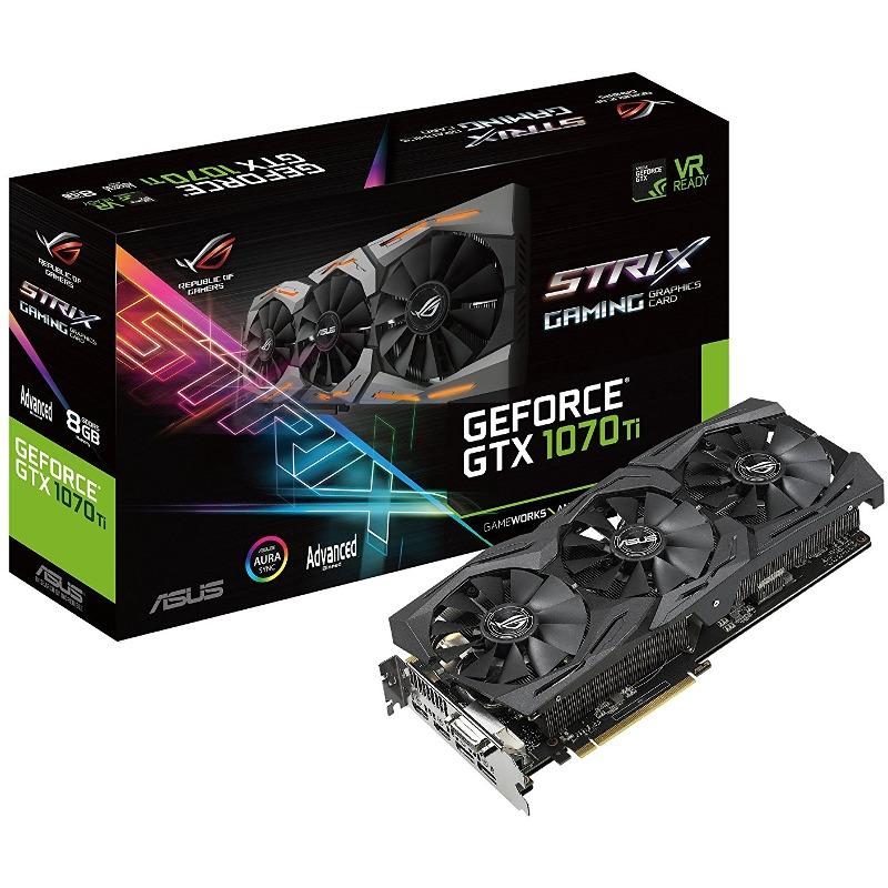 Placa Video ASUS GeForce GTX 1070Ti Strix Gaming A8G 8GB GDDR5 256 biti