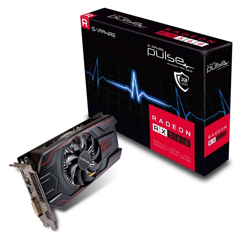 Placa Video Sapphire Radeon PULSE RX 560 2GB GDDR5 128 biti