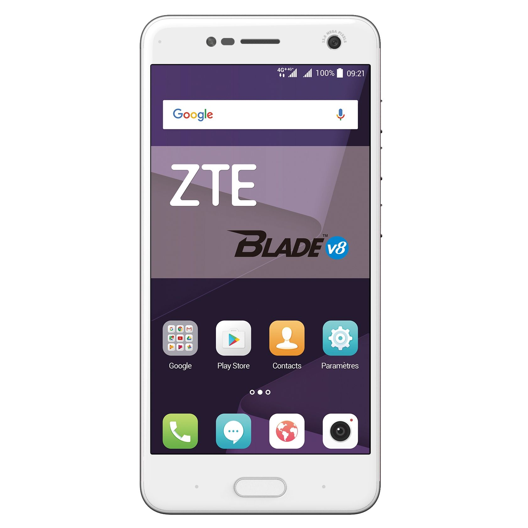 Telefon Mobil ZTE Blade V8 64GB Flash 4GB RAM Dual SIM 4G Gold