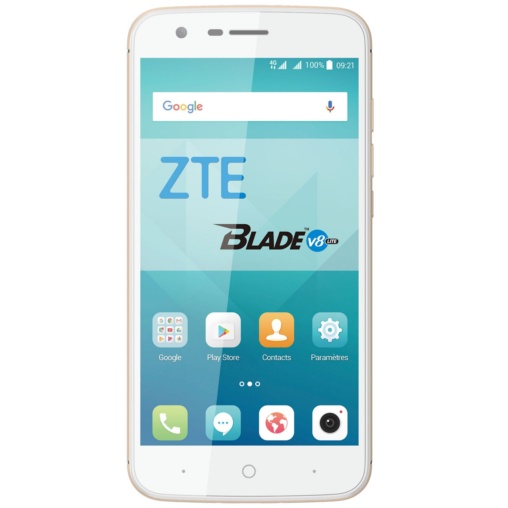 Telefon Mobil ZTE Blade V8 Lite 16GB Flash 2GB RAM Dual SIM 4G Light Gold