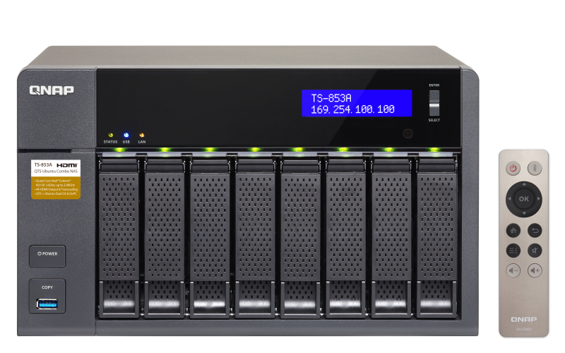 NAS Qnap TS-853A-4G Gigabit RAM 4GB fara HDD-uri