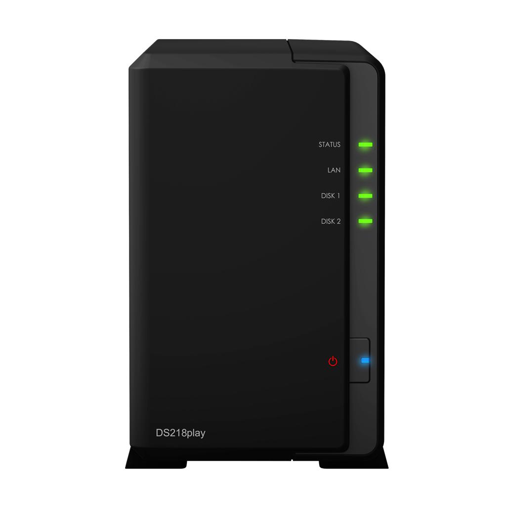 NAS Synology DS218play Gigabit 2-bay fara HDD-uri