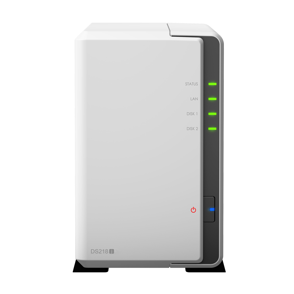 NAS Synology DS218j Gigabit 2-bay fara HDD-uri