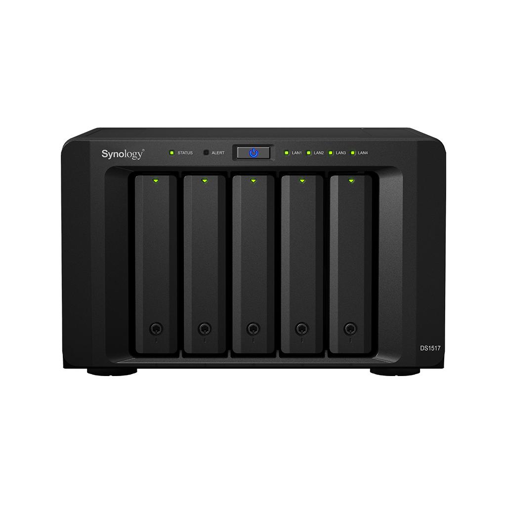 NAS Synology DS1517 Gigabit 5-bay fara HDD-uri