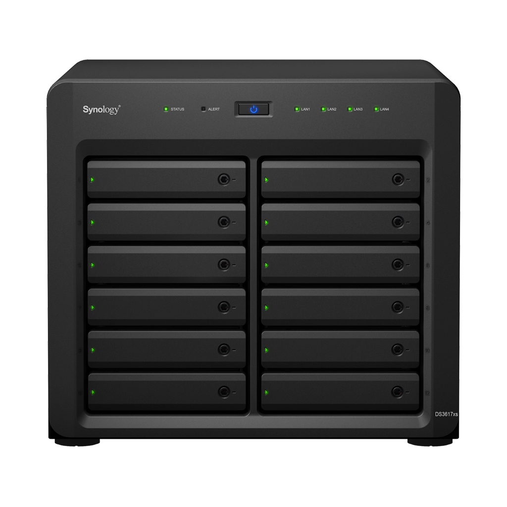 NAS Synology DS3617xs Gigabit 12-bay fara HDD-uri