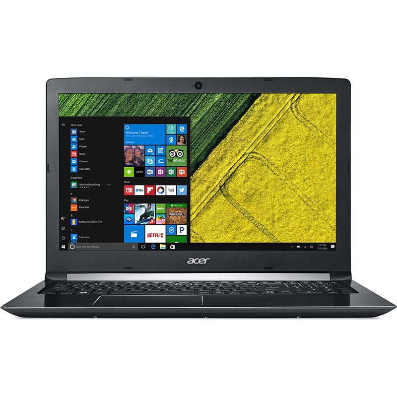 Notebook Acer Aspire A515 15.6 Full HD Intel Core i7-7500U MX150-2GB RAM 4GB HDD 1TB Linux Argintiu