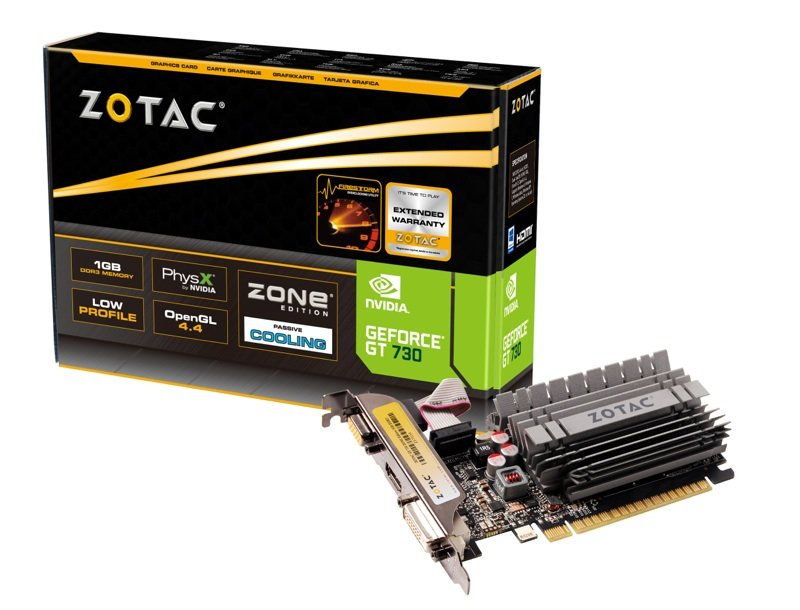 Placa Video Zotac nVidia GeForce GT 730 Zone Edition Low Profile 2GB GDDR3 64 biti