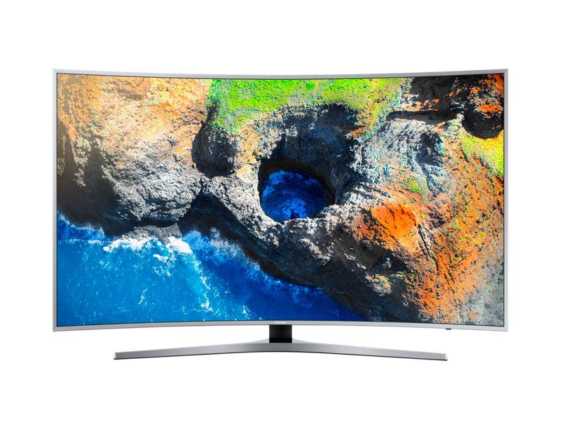 Televizor LED Samsung Smart TV UE55MU6502 139cm Curbat 4K Ultra HD HDR WiFi Direct Argintiu
