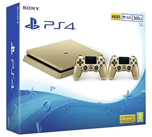 Consola Sony PlayStation 4 500GB Slim Gold + controller DualShock 4 V2 Gold