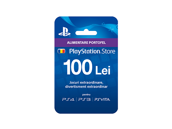 Card Sony PlayStation Store 100 RON