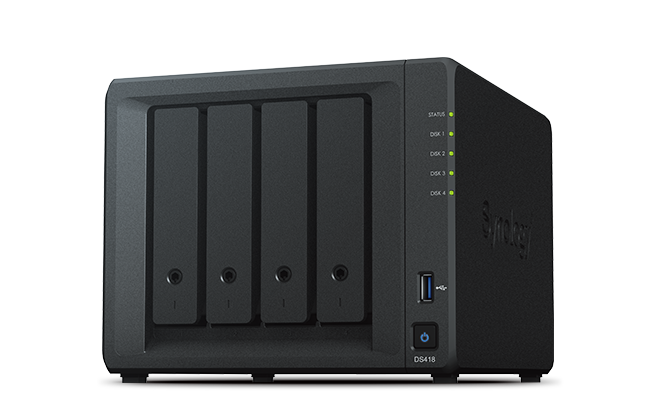NAS Synology DS418 2xGigabit RAM 2GB fara HDD-uri