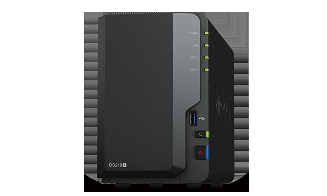 NAS Synology DS218+ 1xGigabit RAM 2GB fara HDD-uri