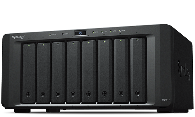 NAS Synology DS1817 2xGigabit RAM 4GB fara HDD-uri
