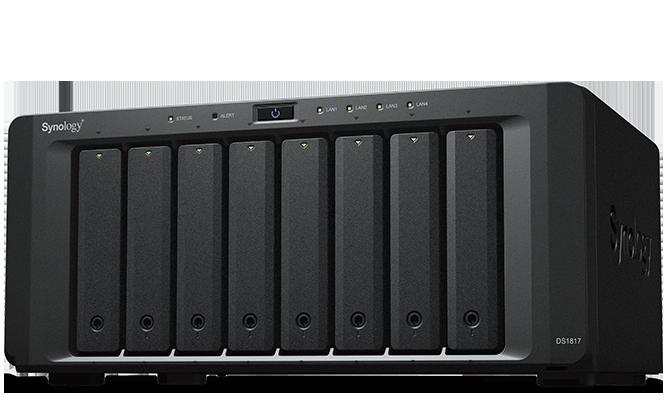 NAS Synology DS1817 2xGigabit RAM 4GB fara HDD-uri
