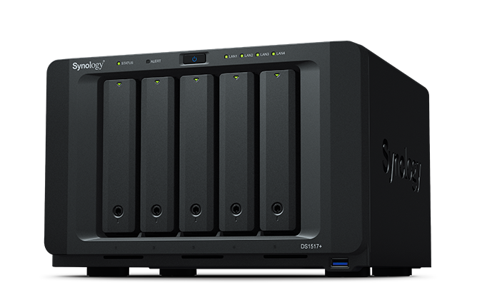 NAS Synology DS1517+ 4xGigabit 5-bay RAM 2GB fara HDD-uri