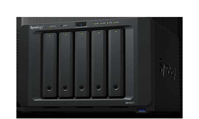 NAS Synology DS1517+ 4xGigabit 5-bay RAM 8GB fara HDD-uri