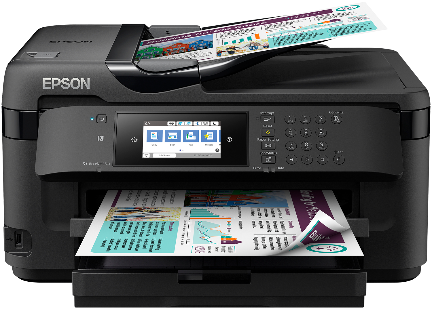 Multifunctional Inkjet Color Epson WorkForce WF-7710DWF