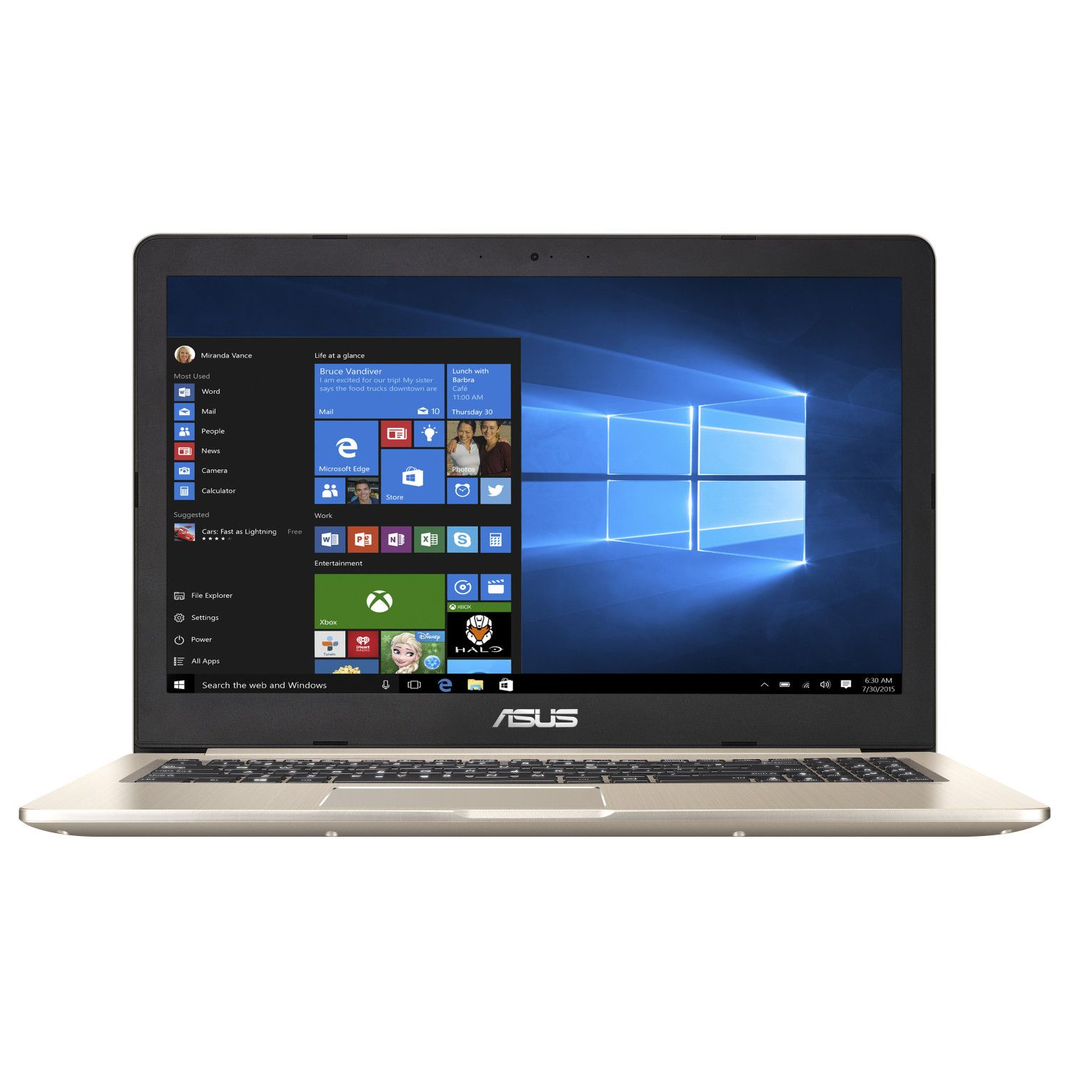 Notebook Asus VivoBook Pro 15 N580VN 15.6 Full HD Intel Core i7-7700HQ MX150-2GB RAM 4GB HDD 1TB No OS Auriu