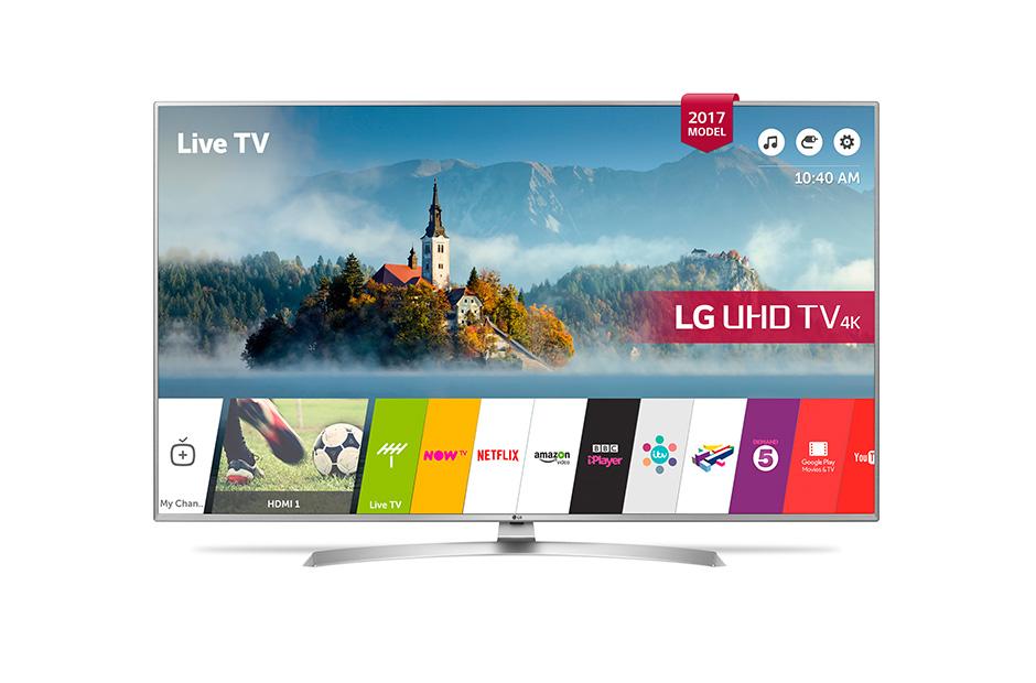 Televizor LED Smart TV LG 55UJ701V 139cm 4K UHD HDR Argintiu-Gri