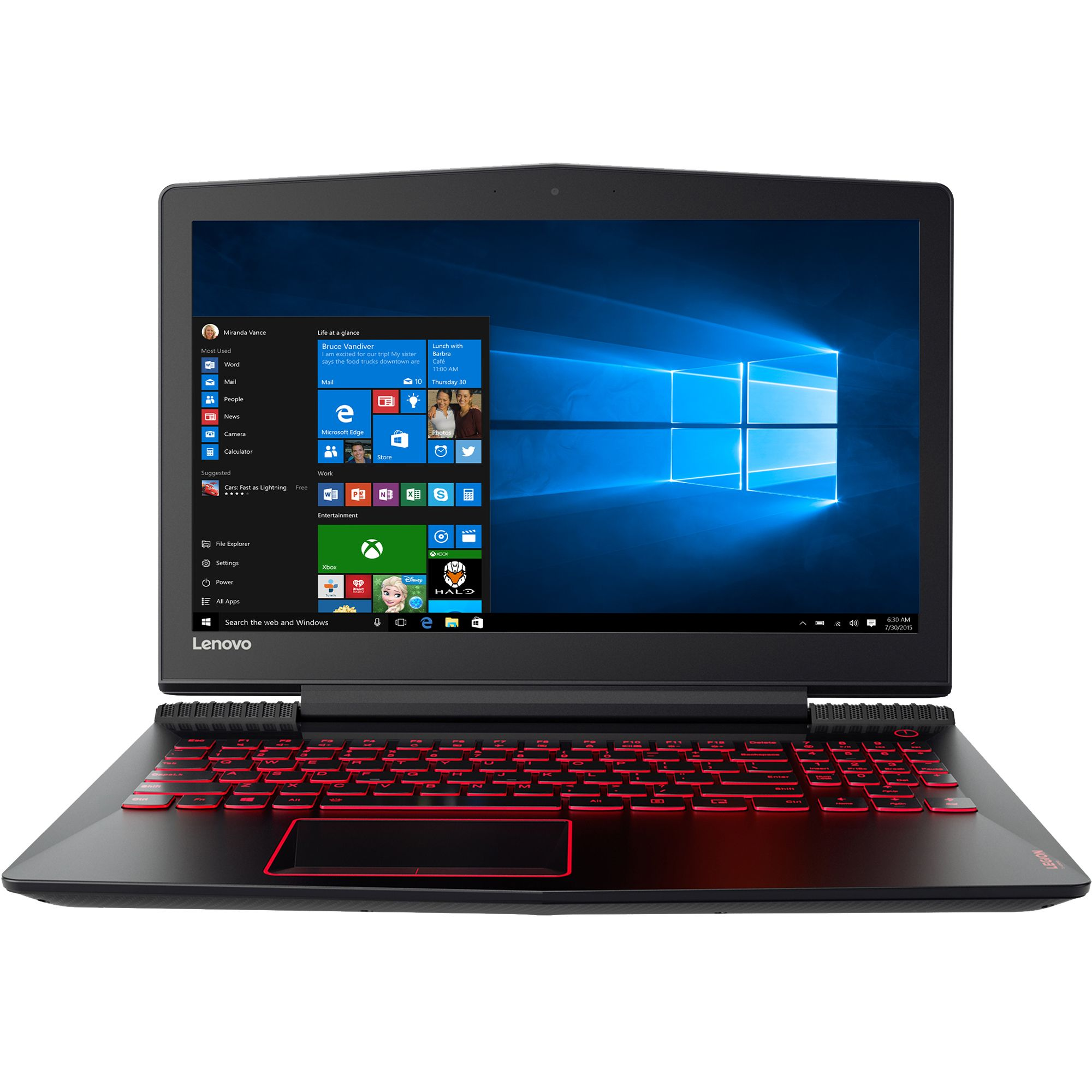 Notebook Lenovo Legion Y520 15.6 Full HD Intel Core i7-7700HQ GTX 1060-6GB RAM 8GB HDD 1TB + SSD 256GB FreeDOS Negru