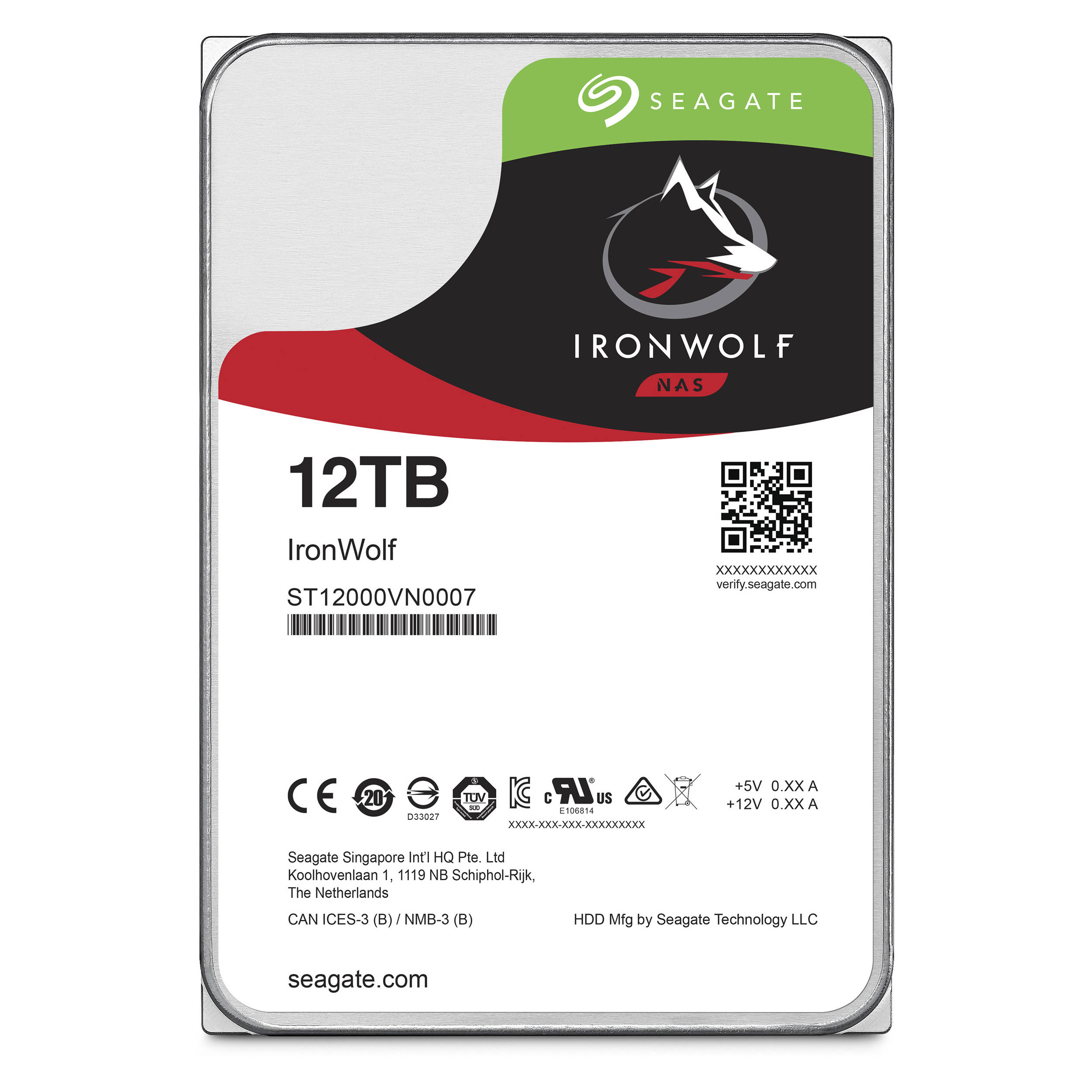 Hard Disk Desktop Seagate IronWolf 12TB 7200RPM SATA III