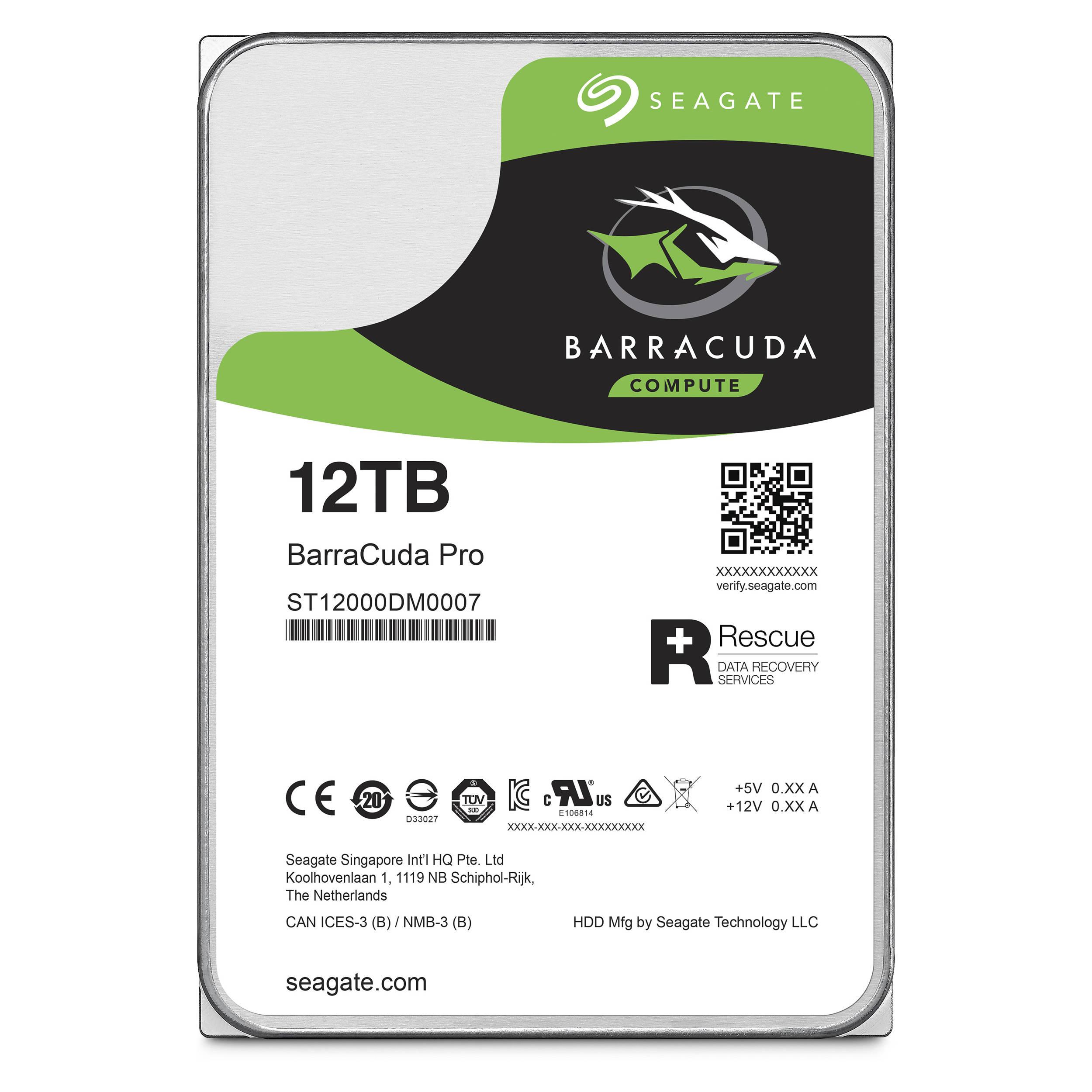 Hard Disk Desktop Seagate BarraCuda PRO 12TB 7200RPM SATA III