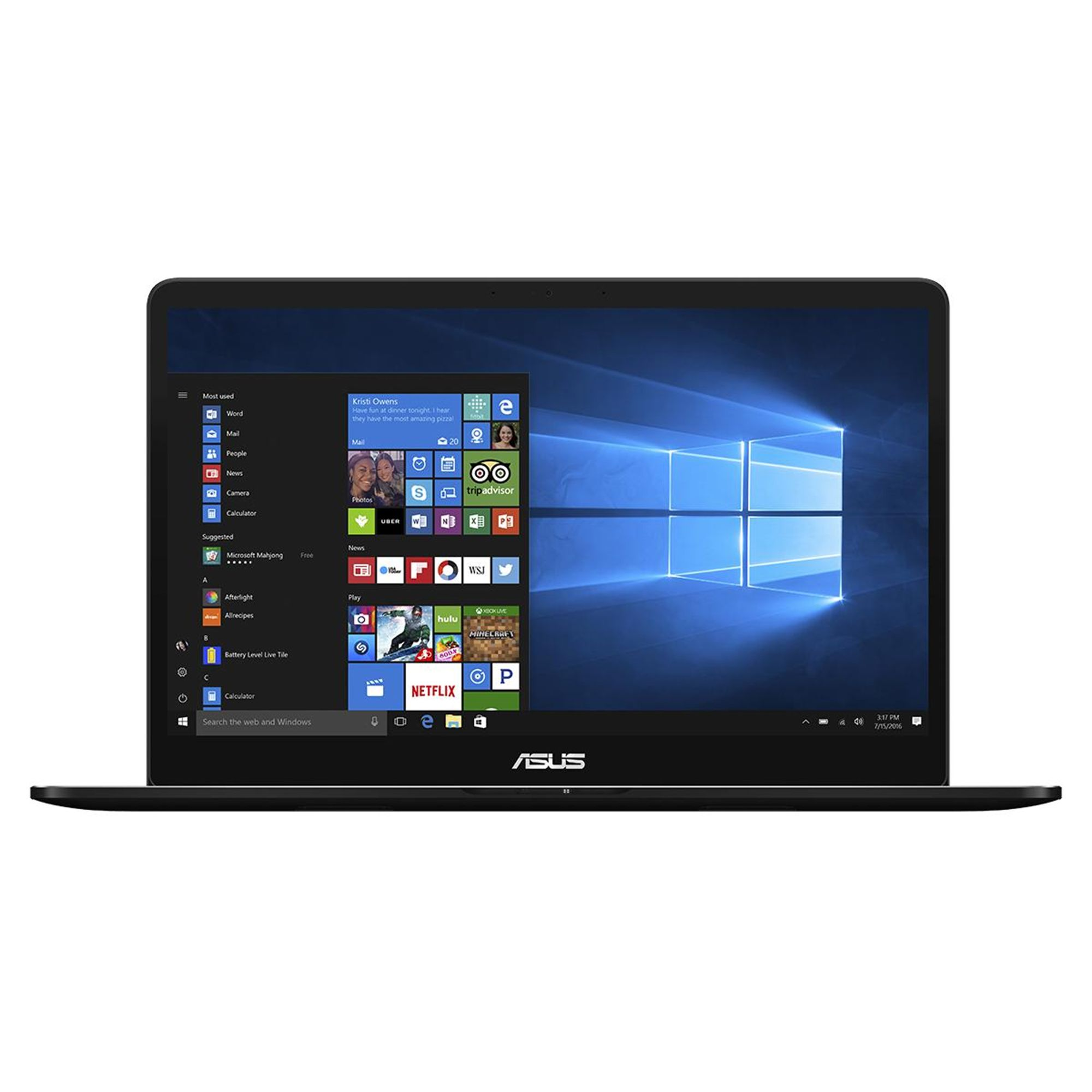 Ultrabook Asus ZenBook UX550VE 15.6 Full HD Intel Core i7-7700HQ GTX 1050Ti-4GB RAM 16GB SSD 512GB Windows 10 Home Negru