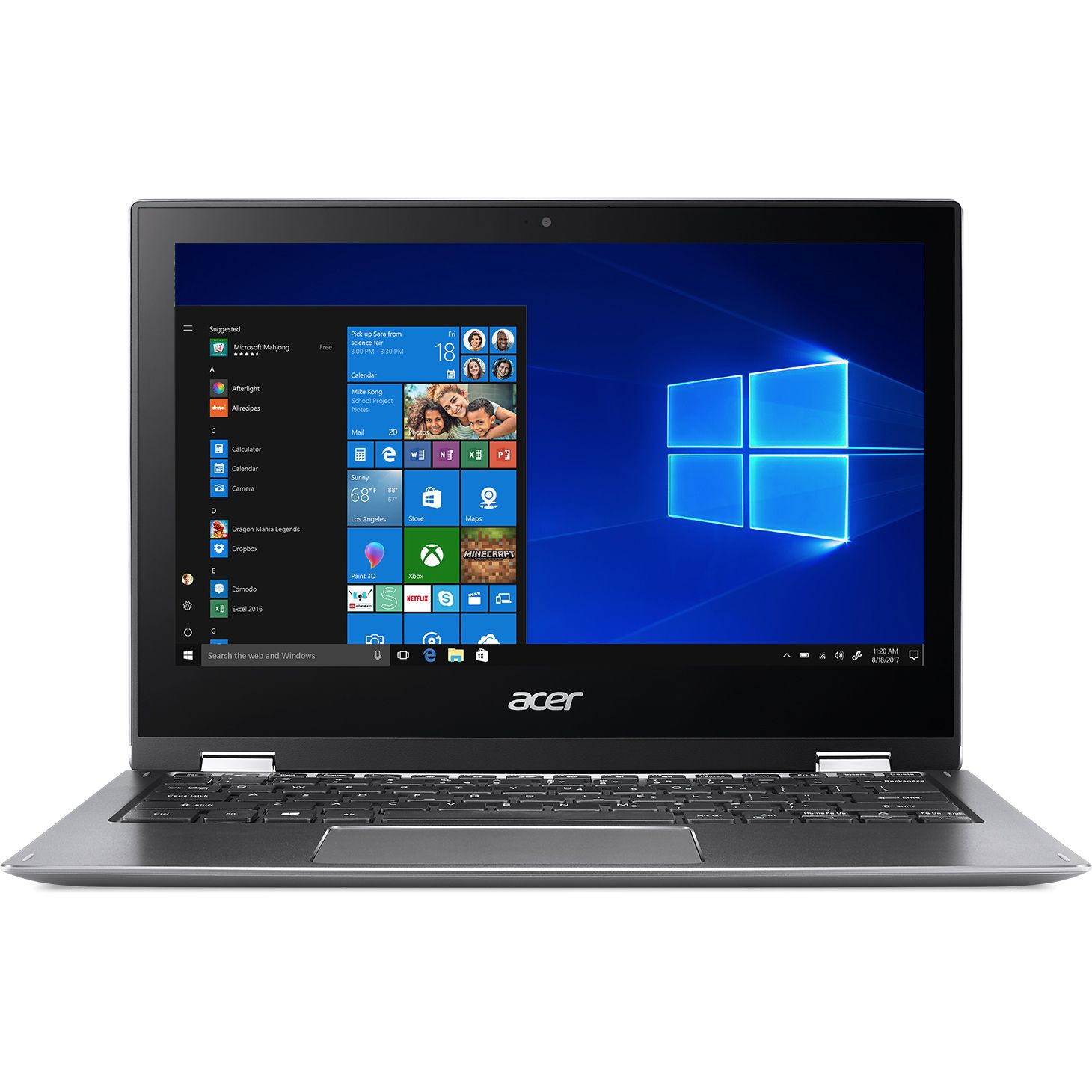 Ultrabook Acer Spin SP111-32N 11.6 Full HD Touch Intel Pentium N4200 RAM 4GB eMMC 64GB Windows 10 S Gri