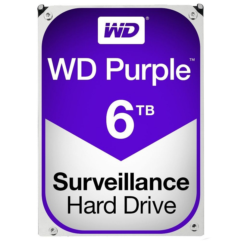 Hard Disk Desktop Western Digital WD Purple Surveillance 6TB 5400RPM SATA3 64MB
