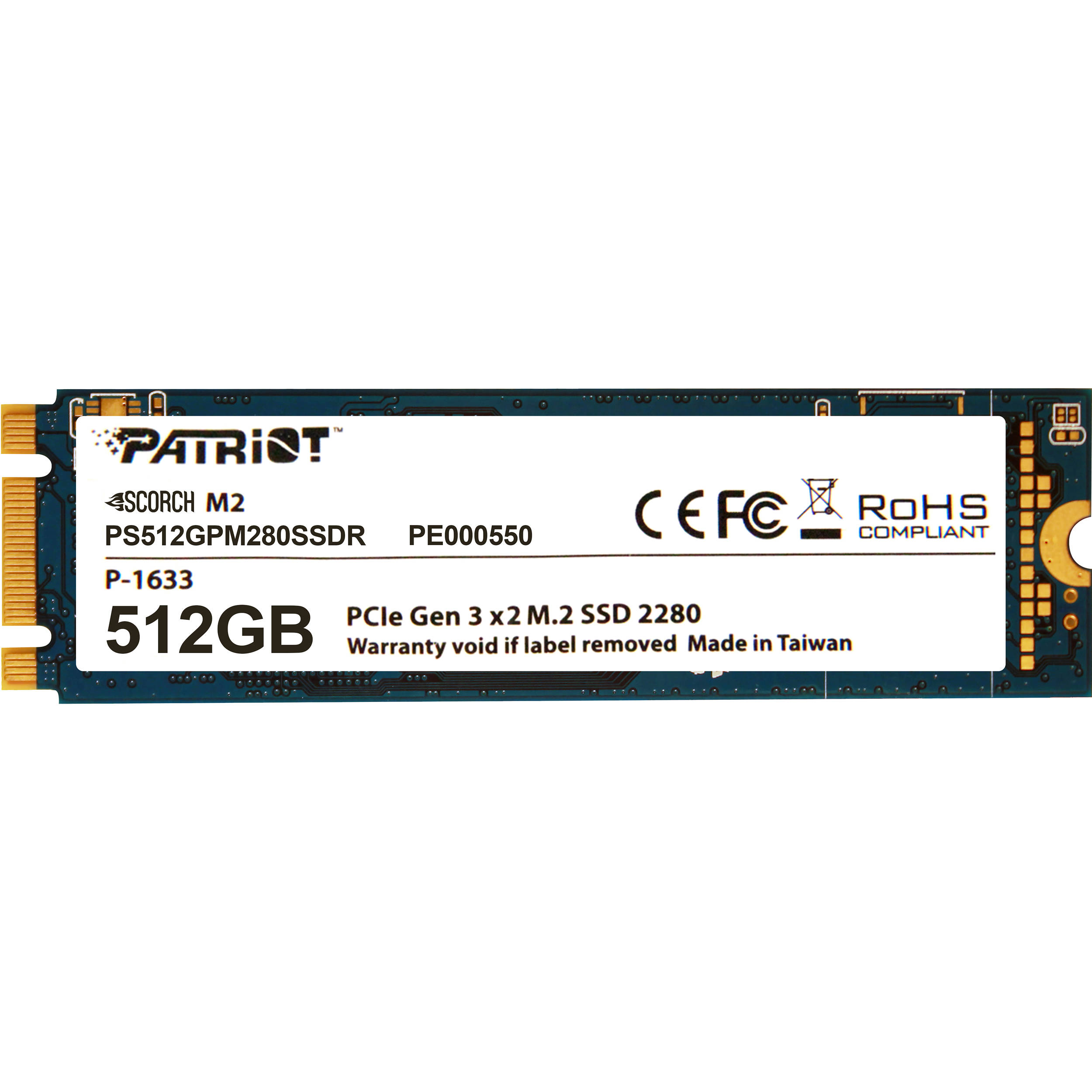 Hard Disk SSD Patriot Scorch 512GB M.2 2280