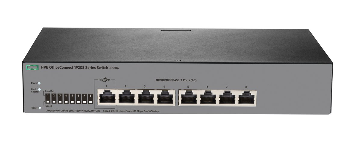 Switch HPE OfficeConnect 1920S 8G fara management fara PoE 8x1000Mbps-RJ45
